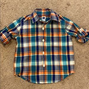 Other - Janie and Jack plaid button down